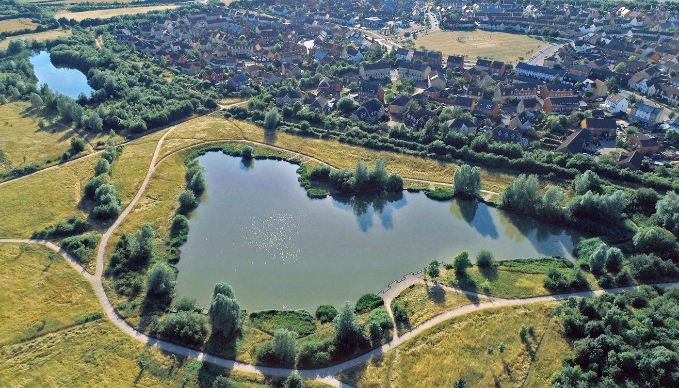 Lower Cambourne and Lake Ewart