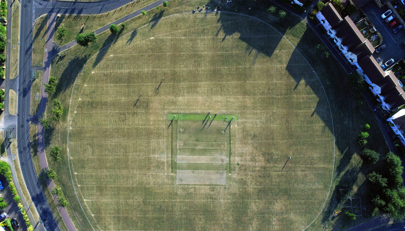 Cricket drone image