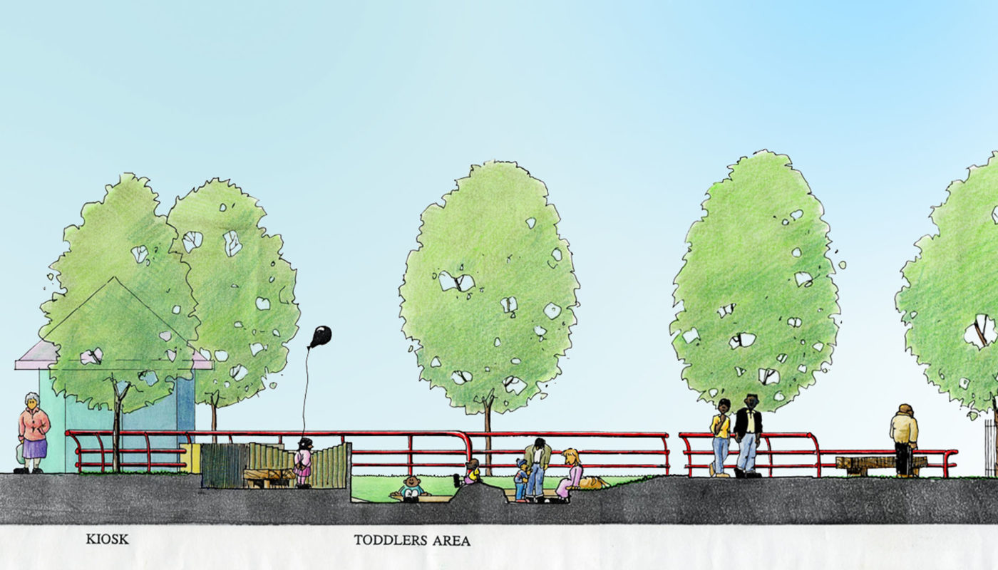 Hulme parks cross section