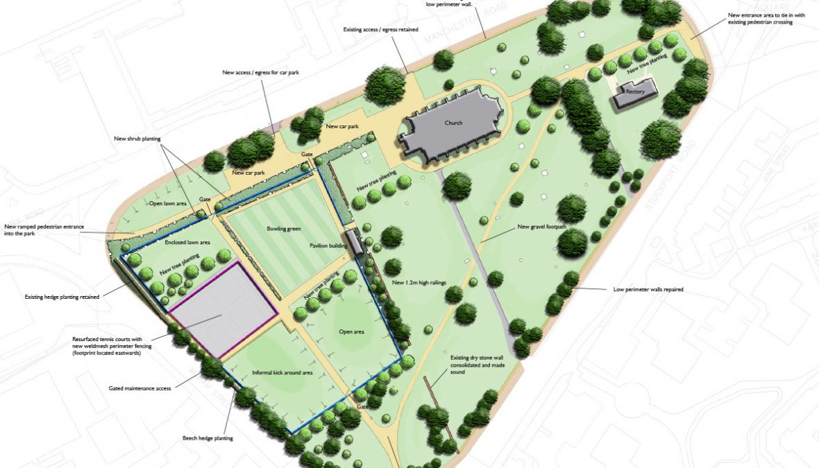 West End Park masterplan