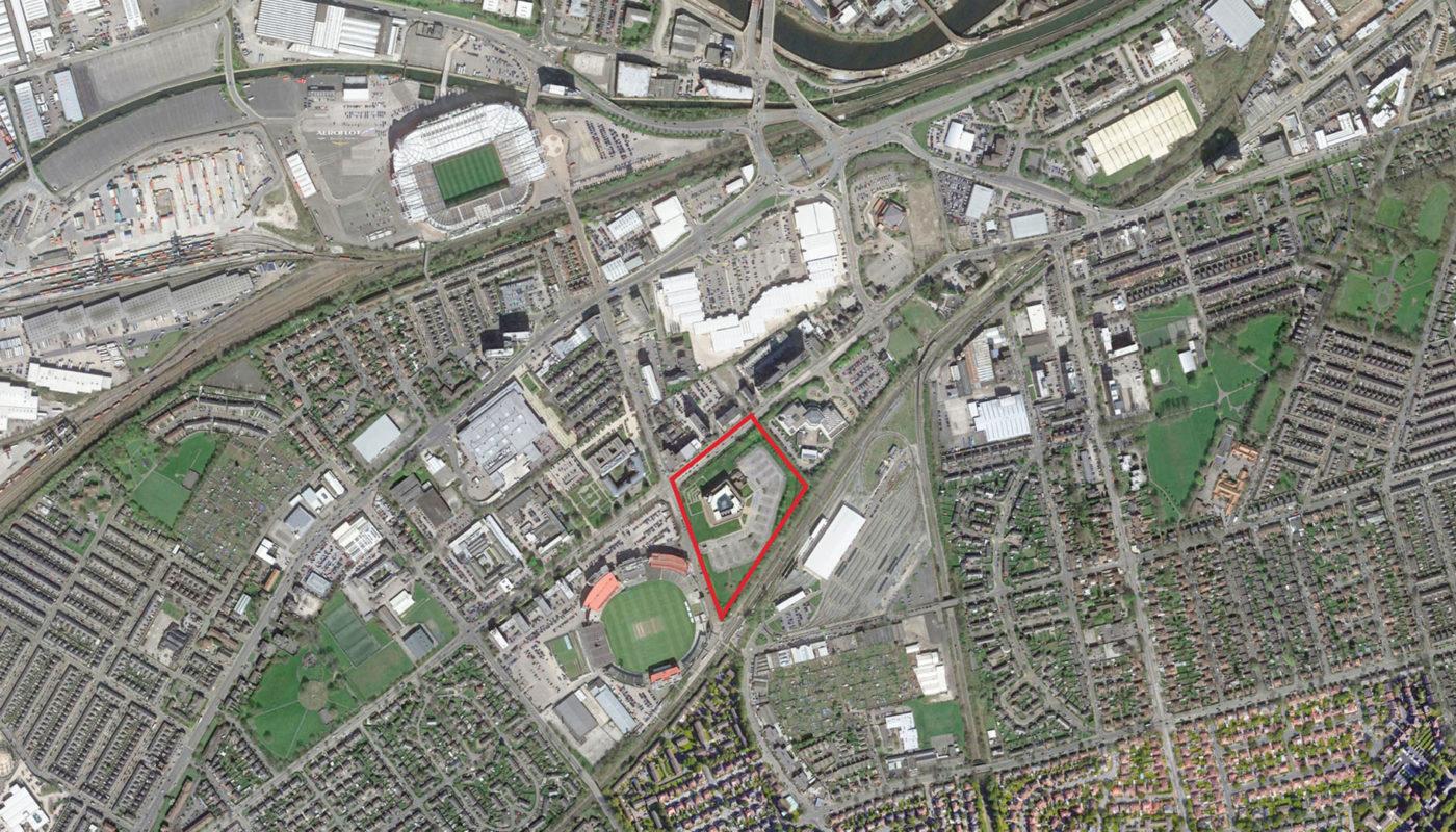 Trafford Aerial Map